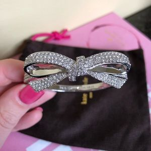 Kate Spade Pave Bow Hinge Bangle